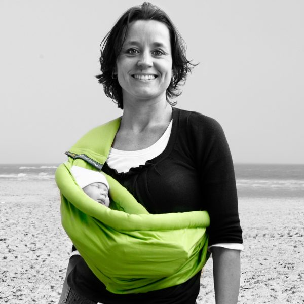 MiniMonkey Baby Sling in Lime Green